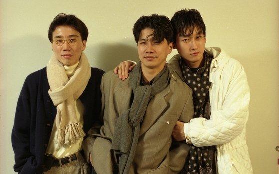 From left, 015B members Jeong Seok-won, Jang Ho-il and singer Kim Don-kyu. [THE 015B]