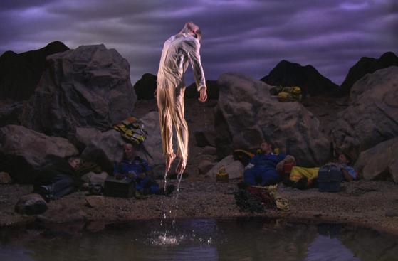 """An image from Bill Viola's video work 'First Light."""" [BUSAN MUSEUM OF ART]"""