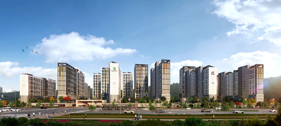 Gapcheon 1 Triple City Hillstate will offer residents a touch of nature as well as convenient transportation options. [HYUNDAI E&C]