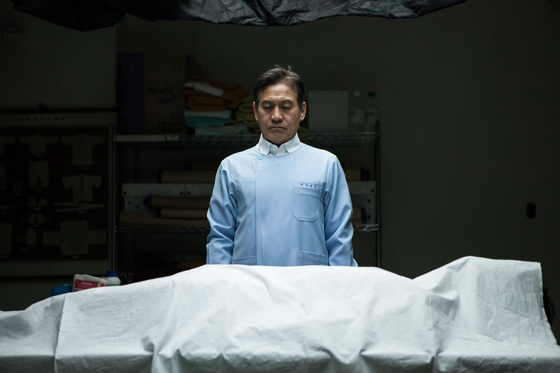 Sung-gil, played by Ahn Sung-ki, is a mortician caught in a moral dilemma over how he should send off the deceased. [ROD PICTURES]