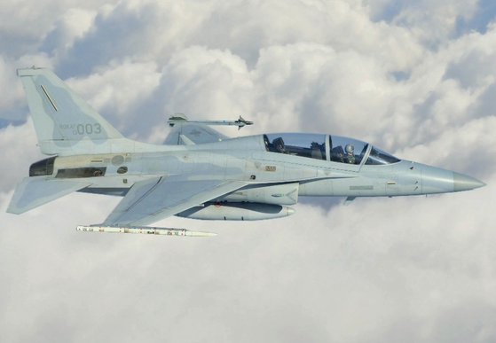 The FA-50 light combat aircraft developed by Korea Aerospace Industries. [KOREAN AIR FORCE]