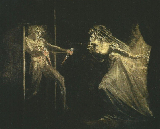 """A painting titled """"Lady Macbeth Seizing the Daggers"""" by Henry Fuseli inspired by William Shakespeare's tragedy """"Macbeth."""" [TATE]"""