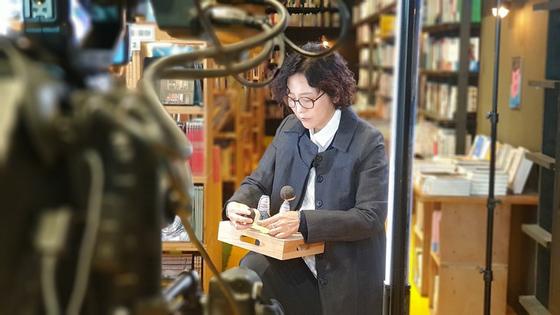 "Author Baek Heena of ""Cloud Bread"" (2007). [EMBASSY OF SINGAPORE]"
