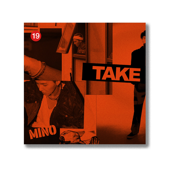 "The cover of Mino's limited edition version of ""Take."" [YG ENTERTAINMENT]"