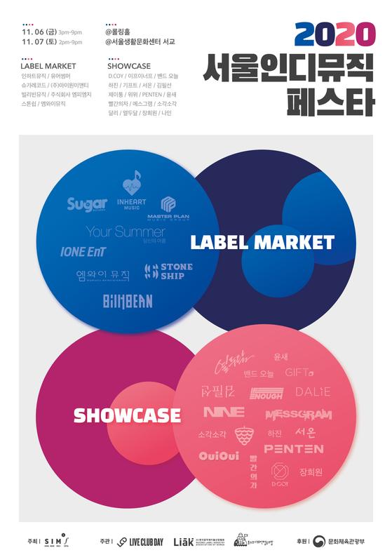 2020 Seoul Indie Music Festa poster