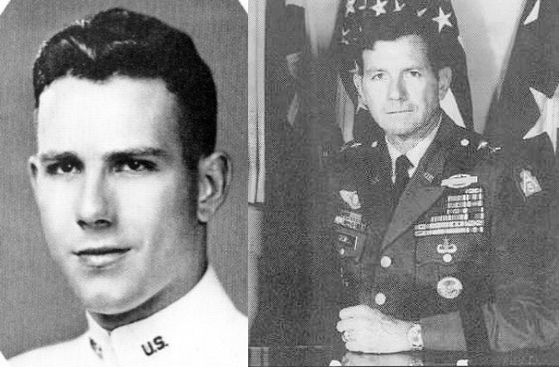 William Caldwell III, who served in the Korean War (1950-1953). The left photo was taken at his graduation of U.S. Military Academy in 1948. It has been provided to the paper by president of the class' association, Arthur Barondes. [YEARBOOK OF USMA CLASS OF 1948]