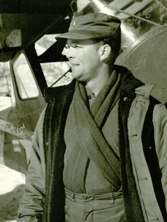 Major Edward L. Barker of the U.S. Marine Corps, in this photo taken during his service in Korea, had served in the Korean War for a year from September 1951. [HAL BARKER]