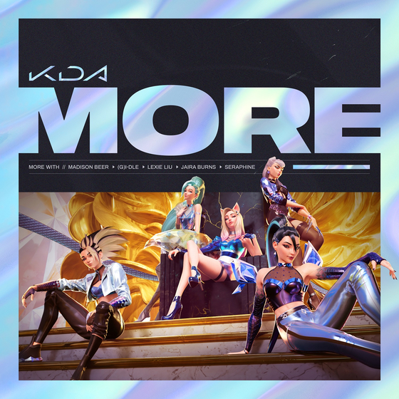 """Virtual girl group K/DA has released an album titled 'All Out"""" on Nov. 6, following the success of 'Pop/Stars″ (2019), which has garnered 390 million views on YouTube as of Nov. 10. [RIOT GAMES]"""