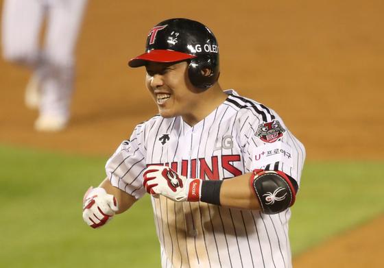 LG Twins' second baseman Jeong Keun-woo. [YONHAP]