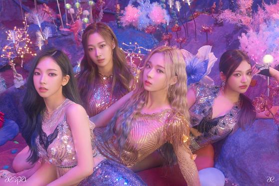 SM Entertainment's new girl group aespa. [SM ENTERTAINMENT]