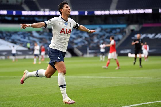 Tottenham Hotspur's South Korean striker Son Heung-Min. [AFP]