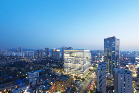 Amorepacific headquarters in Yongsan, central Seoul. [AMOREPACIFIC]