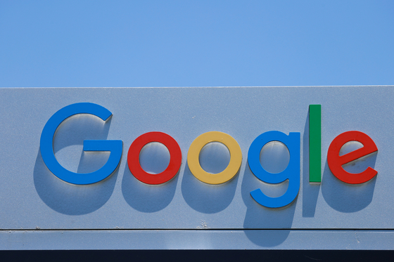 A Google sign is shown at one of the company's office complexes in Irvine, California. [REUTERS/YONHAP]