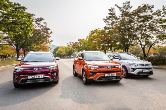 SsangYong Motor's upgraded Tivoli Air on road. [SSANGYONG MOTOR]