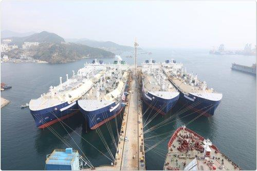 Daewoo Marine and Shipbuilding (DSME) LNG carriers. [DSME]