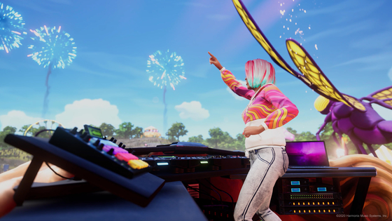 A scene from NCSoft's first new console music game Fuser, where users get to become DJs and mix all their favorite songs together. [NCSOFT]