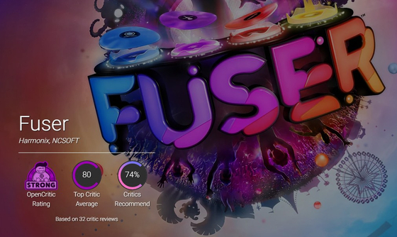Positive feedback for Fuser on video game review site OpenCritic. [NCSOFT]