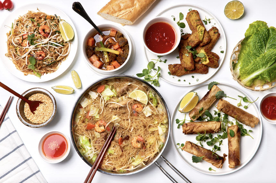 Five different dishes available as meal kits from the Asean Culture House. [THE KOREA FOUNDATION]