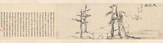 """Sehando"" by Joseon painter Kim Jeong-hui. The painting is designated as National Treasure No. 180. [NATIONAL MUSEUM OF KOREA]"
