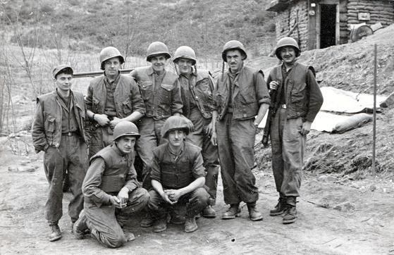 Members of the Belgian forces in Korea during the war. [EMBASSY OF BELGIUM IN KOREA]