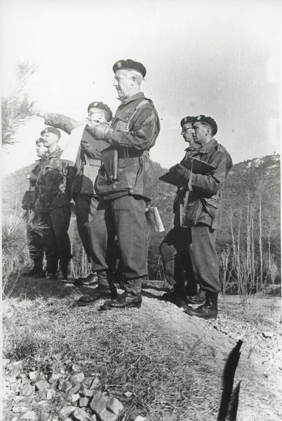 Belgium's Minister of Defense Henri Moreau de Melen serving in the Korean War. [EMBASSY OF BELGIUM IN KOREA]