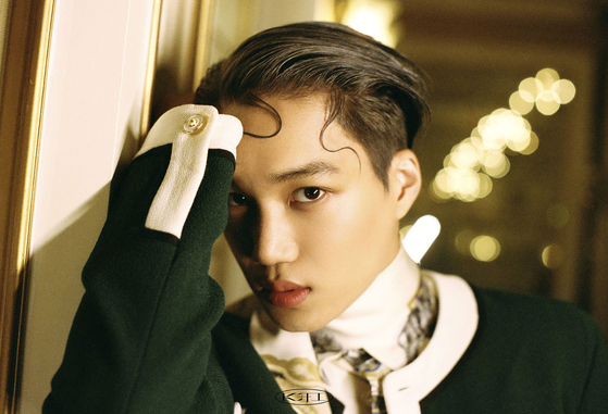 Singer Kai poses for photos prior to the press conference held on Monday morning for his first solo album ″KAI.″ [SM ENTERTAINMENT]