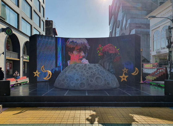 """BTS Jin Theme Street"" in Mapo District, western Seoul. [MAPO DISTRICT OFFICE]"