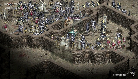 A captured image from the game Lineage [SCREEN CAPTURE]