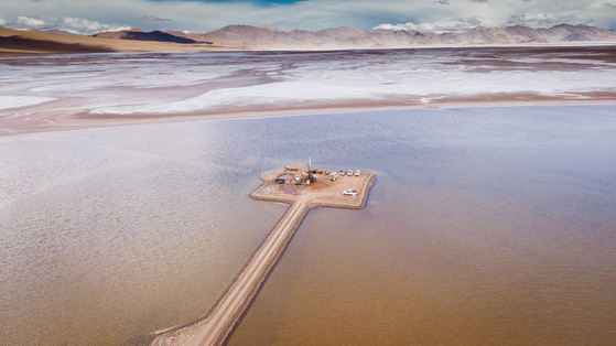Posco probes Hombre Muerto Salt Lake in Argentina, where lithium is buried. [POSCO]