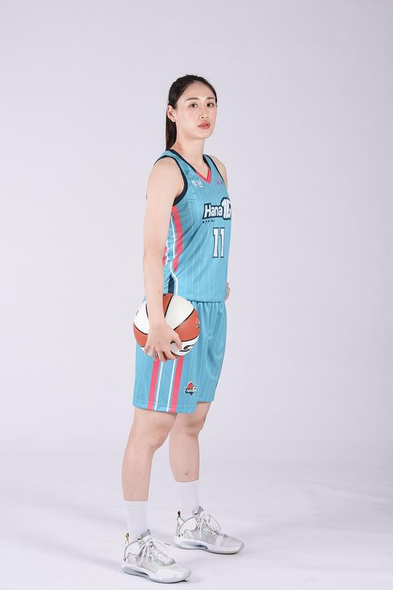 Hana 1Q's forward Kang Lee-seul. [HANA 1Q WOMEN'S BASKETBALL TEAM]