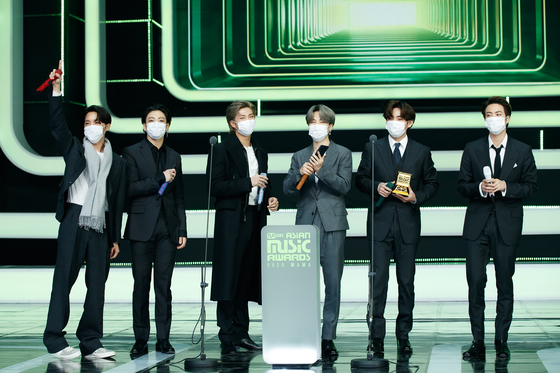 BTS is making a remark during MAMA 2020 on Sunday. [NEWS1]