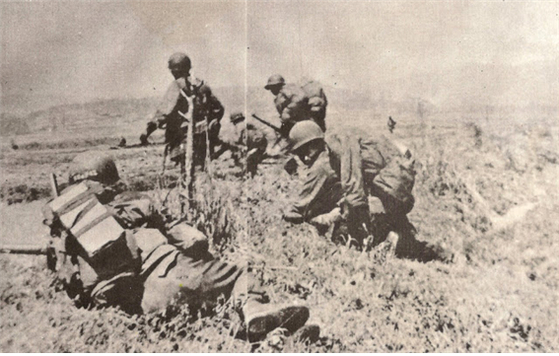 Filipino soldiers during the Korean War (1950-53). [KOREA MILITARY ACADEMY]