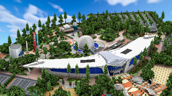 A view of the Gwacheon National Science Museum on Minecraft. [GWACHEON NATIONAL SCIENCE MUSEUM]