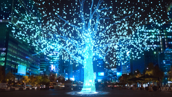 """""""Gwanghwa Su [Gwanghwa World Tree],"""" is one of the eight works from the forthcoming immersive content project titled ″Age of Light.″ [KOCCA]"""