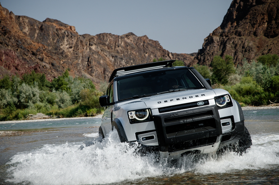 The All New Defender from Land Rover provides comfort, safety and an exciting driving experience. [LAND ROVER]