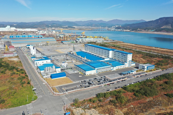 Posco Chemical's Gwangyang factory in South Jeolla. [POSCO CHEMICAL]