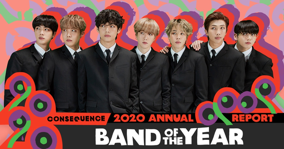 """BTS has been chosen as the """"Band of the Year"""" by Consequence of Sounds. [COS]"""