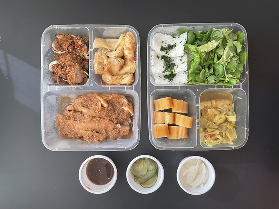 A packaged lunch from restaurant Sate in Haebangchon, Yongsan District. [LEE SUN-MIN]