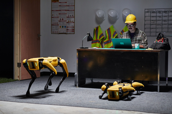 A four-legged robot named Spot developed by Boston Dyanamics. [HYUNDAI MOTOR GROUP]