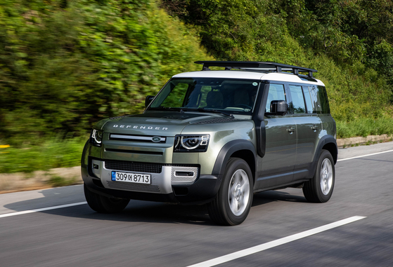 Land Rover's Defender 110 SUV which launched in Korea in September. [LAND ROVER KOREA]