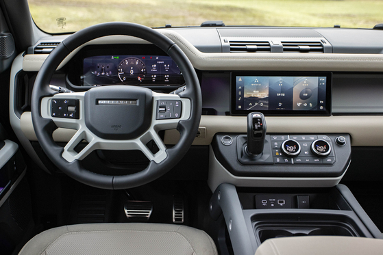 The interior of the Land Rover Defender 110. [LAND ROVER KOREA]