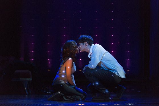 Korean production of the musical ″Ghost″ is being staged at the D-Cube Arts Center in western Seoul. The show will continue until March, though it is suspended until Dec. 28 due to the government's social distancing regulation. [SEENSEE COMPANY]