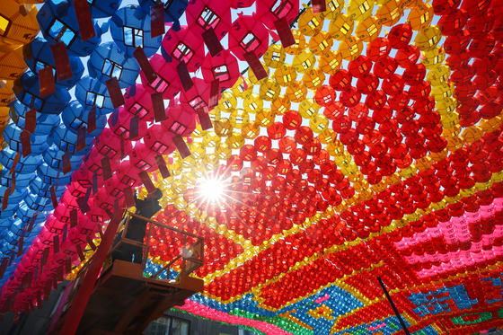 Colorful lanterns are prepared for the 2020 Yeondeunghoe Lantern Lighting Festival, which was postponed from April to May due to the coronavirus pandemic. [NEWS1]