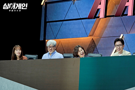 """The judges for JTBC's """"Sing Again"""" are veteran singers, including Yoo Hee-yeol, far right. [JTBC]"""
