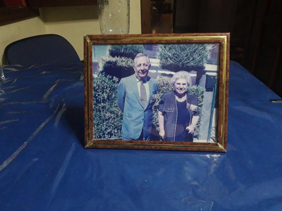 Second Lt. Constantinos Farros, left, with his wife. [CONSTANTINOS FARROS]