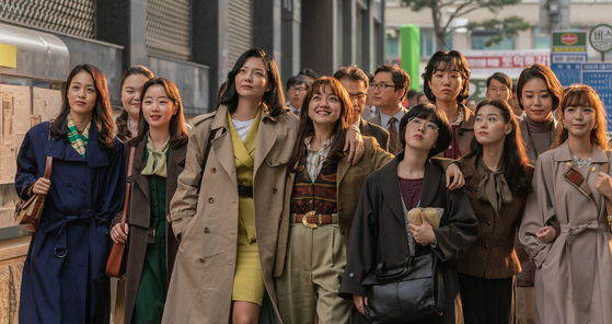 ″Samjin Company English Class″ received positive reviews and managed to reap 1.56 million ticket sales at the box office despite the toll the Covid-19 pandemic took on the film industry. [LOTTE ENTERTAINMENT]