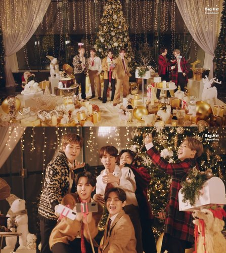 Boy band BTS released a holiday remix version of its hit song ″Dynamite″ on Dec. 11. [BIG HIT ENTERTAINMENT]