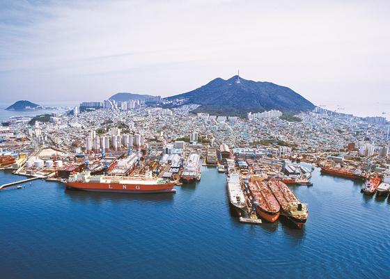 Hanjin Heavy Industries & Construction's Yeongdo shipyard. [HANJIN HEAVY INDUSTRIES & CONSTRUCTION]