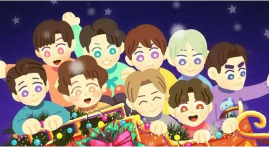 """A teaser image of Super Junior's Christmas single """"Tell Me Baby."""" [LABEL SJ]"""