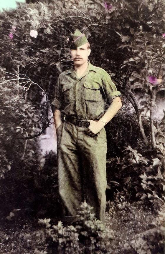 Dirk Frederik Hermans, a Dutch veteran of the Korean War, shortly before leaving for Korea in 1950. [DIRK FREDERIK HERMANS]